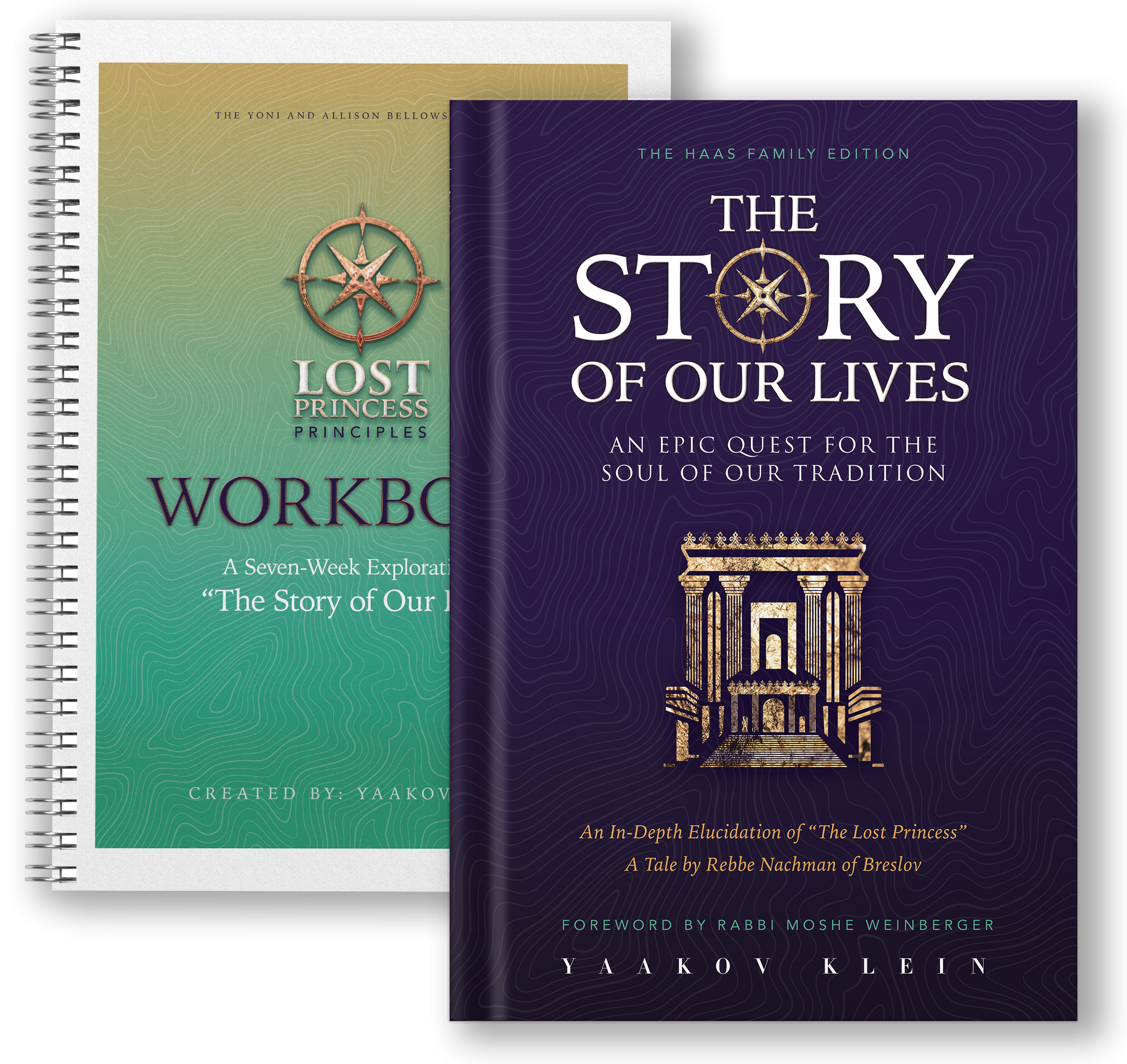 Book and workbook mokcup